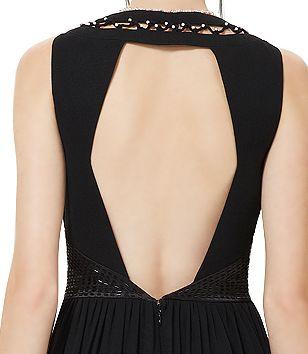 44d9642f1b91 dlouhé černé společesnké šaty sexy s holými zády - plesové šaty ...